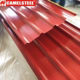 Il colore personalizzato ha ricoperto lo strato d'acciaio galvanizzato preverniciato del tetto