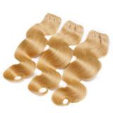 7A 613#GradeのインドのバージンのRemyの巻き毛の人間の毛髪のよこ糸Dyeable