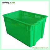 Recipiente plástico de armazenamento/Bin/Mesh Tote/engradado de vegetais/Caixa de frutos de plástico