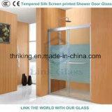 L'écran de soie imprimés en verre trempé, verre décoratif