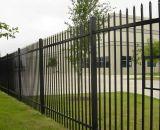 Painel da cerca da mancha do preto da segurança industrial