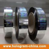 ペーパーおよびプラスチック両方のためのホログラムの熱い押すホイル