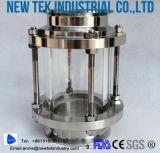 衛生Triclampの十字のパイプラインのサイトグラスのステンレス鋼