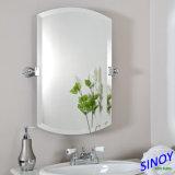 Verre à miroir antidérapant à double couche imperméable à l'eau avec bord biseauté, miroir chanfreiné pour les salles de bains