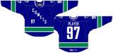 Hokey di ghiaccio americano personalizzato delle comete 2013-2017 di Utica della Lega di Hockey dei capretti delle donne degli uomini Jersey