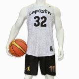 Haut de la vente de vêtements de sport Healong impression en sublimation maillot de basket-ball réversible