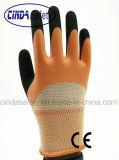 Латекс 3/4 удвоил Coated, Sandy наружный, перчатка работы безопасности