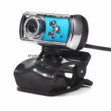 Cámara de alta definición 12.0 del webcam del USB de la P.M. 3 LED de la alta calidad HD con el Mic y visión nocturna para el color del azul los periférico de ordenador de la PC