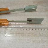 Braçadeira de madeira Masher-Retangular Textured do Waffle (com dentes)