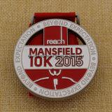 Медаль бега 5k 10k Mansfield металла медальона конструкции Uniqe