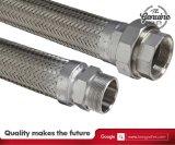 Material resistente al calor de acero inoxidable flexible trenzado mangueras o tuberías de metal flexible