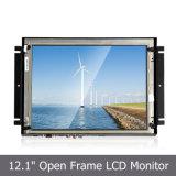"""12.1"""" LCD Open Frame con la casa del metal, el panel de tacto"""