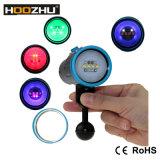Hoozhu Buceo Equipos Max 2600 Lm Light Blue Diving Luz de vídeo LED V13 con Five Luz