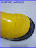 Schoenen van het Werk van de Slijtage van de regen de Anti Zure Gele Rubber
