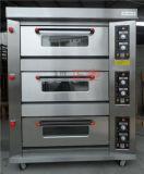 3 Oven van het Dek van de Deur van het Roestvrij staal van lagen en van 6 Dienbladen de Elektrische (zbb-306D)