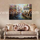 Растянуть холст стену искусства Мост Вздохов палитра нож Венеции Картины маслом