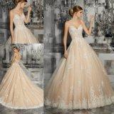 Милая шампанское формального вечера устраивающих свадебные платья Gowns (8187)