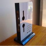 Support de porte en acrylique pour porte, le faire selon les requêtes du client