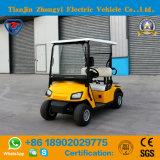 Carro amarelo do golfe de 2 Seater para o campo de golfe