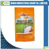 Sacs tissés par pp stratifiés par impression colorée/sacs de BOPP pour la graine de riz/farine/engrais chimique
