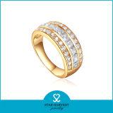 Chapado en oro al por mayor anillos de dedo CZ Joyas de boda (SH-R0397)