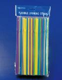 Pajas de beber flexibles de los colores transparentes