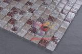 ピンクの水晶の割れたガラスモザイク・タイル(CC160)