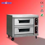 Doppelt-Schicht Vier-Tellersegment elektrischer Pizza-Ofen