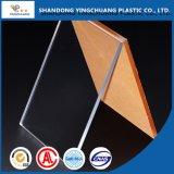 Placa de acrílico transparente de plexiglás de hoja de PMMA Hoja
