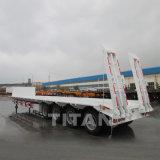 120 Tonnen-Kostenbelastung Lowbed halb Wellen-niedriger Bett-Schlussteil der Schlussteil-4