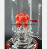Rote Blumen-Filter-Glas-Pfeife