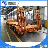 3 eixo de maquinaria pesada Transporter Cama Baixa semi reboque com subir a escada