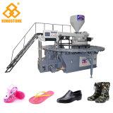 Máquina de moldeo por inyección rotativa de gelatina para la fabricación de calzado y zapatos de cristal en material plástico de PVC