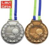 Or 3D personnalisé de gros de la Russie jeu Metal Souvenir Sport Award médaille avec ruban couleur du drapeau