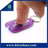 Figura quadrata morbida LED Keychain chiaro/anello chiave del PVC di marchio su ordinazione promozionale mini