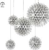Indicatore luminoso decorativo moderno del pendente dell'acciaio inossidabile del lampadario a bracci della lampada del LED
