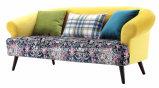 純木ベースが付いているLoveseat Douleの椅子のソファーの椅子
