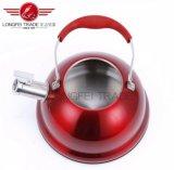 Elegante de color rojo de electrodomésticos de acero inoxidable 3L silbido hervidor de agua/sonido de campana Pot