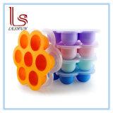 FDA одобрить силиконового герметика яйцо укусы пресс-форм многоразового силиконового герметика контейнер для хранения и морозильной камере лоток с крышкой для кормления грудных детей