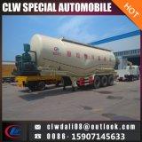 Réservoir de poudre de ciment semi-remorque, 3 Réservoir d'essieu semi-remorque pour la vente du chariot
