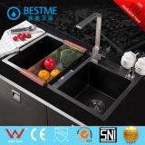 Cor Preto Tecnologia Nano Dissipador de aço em mobiliário de cozinha BS-347-201