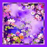 Изготовленный на заказ шарфы печатание 100% цифров Silk (F13-0008)