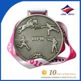 Медаль металла марафона парка способа 2014 таможен с славной тесемкой