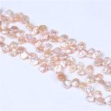 Hilos de perlas Keshi de agua dulce color rosa perla Strandfor Costum Diseño de joyas