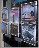Cristal Cartel Marco Slim LED Caja de luz para la publicidad de Agente Inmobiliario Billboard