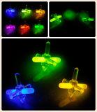 Los juguetes 12 PCS Showbox del resplandor pila de discos 1 '' girocompás del plástico del resplandor