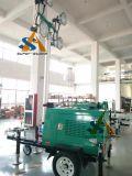 Tour d'éclairage mobile haloïde en métal avec le générateur diesel refroidi à l'eau