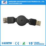 Portável 1m de dados retrácteis carregando o cabo Micro USB