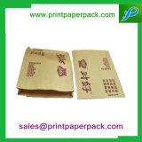 서류상 치료는 사탕 감미로운 상점 소포 열 - 물개 Kraft 종이 봉지를 자루에 넣는다