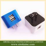 100% novo e a alta qualidade Dual o carregador portuário do telefone de pilha do USB 2